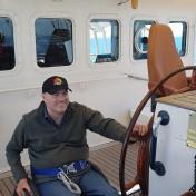 On Tenacious - wheelhouse with speaking compass