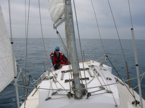 Damien Stimpson at the helm