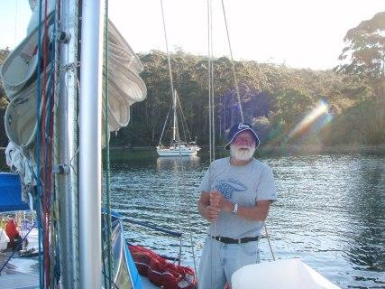 Bill Reynolds contemplates Fortesque bay