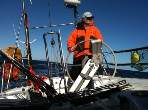 JB heading for home, Bass Strait.