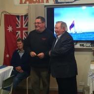 Mayor Bob Merriman and Chris Laker, winner of Ray Maki Series