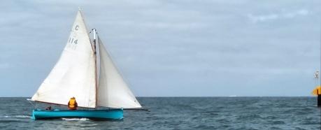 Rosie amongst the Parks buoys. Ray Maki race 3 on 16/11/19